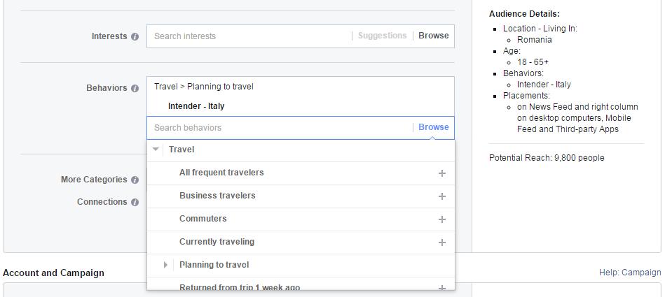 facebook in turism