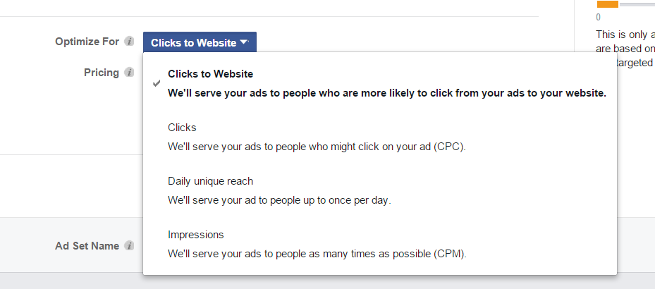 clicks to website