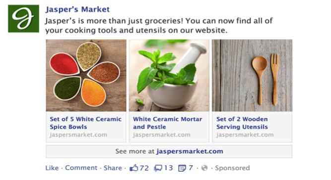 Facebook multi product ads